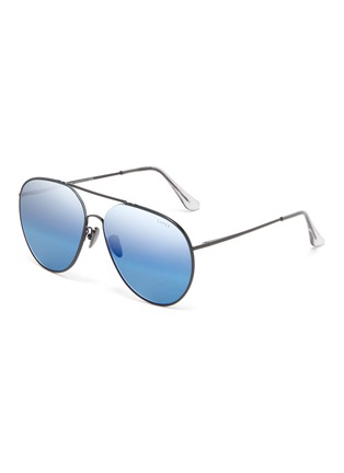 Main View - Click To Enlarge - SUPER - 'Completo' metal oversized aviator sunglasses