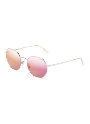 Main View - Click To Enlarge - SUPER - 'Sagoma' metal oversized octagonal frame sunglasses