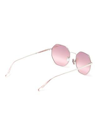 Figure View - Click To Enlarge - SUPER - 'Sagoma' metal oversized octagonal frame sunglasses