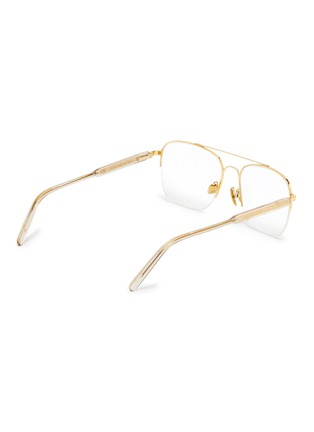 Figure View - Click To Enlarge - SUPER - 'Numero 63' metal oversized square optical glasses