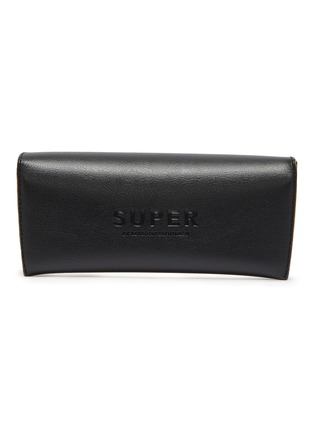 Detail View - Click To Enlarge - SUPER - 'Zebedia' metal rectangular sunglasses