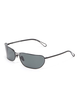 Main View - Click To Enlarge - SUPER - 'Zebedia' metal rectangular sunglasses
