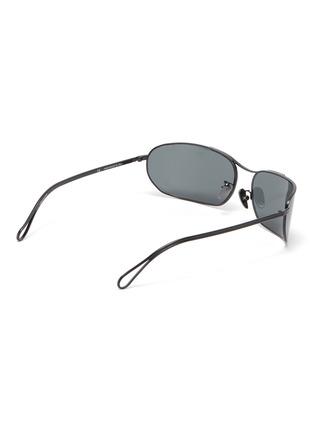 Figure View - Click To Enlarge - SUPER - 'Zebedia' metal rectangular sunglasses