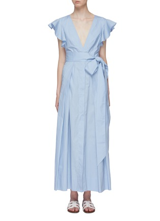 Main View - Click To Enlarge - KALITA - 'New Poet By The Sea' ruffle sleeve cutout back dress