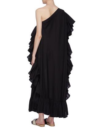 Back View - Click To Enlarge - KALITA - 'Zahara' ruffle one-shoulder maxi dress