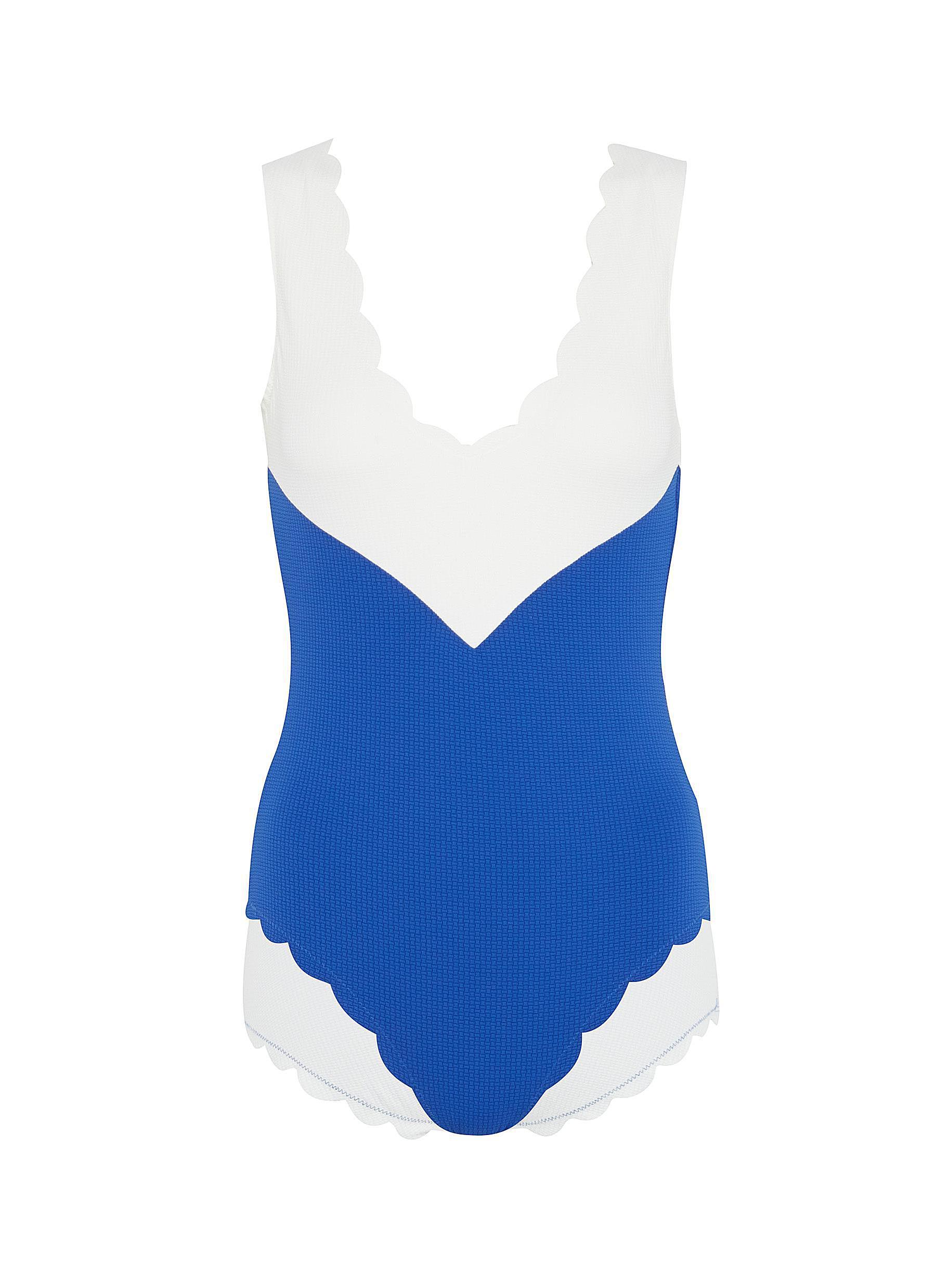 Kamas colourblock scalloped one-piece swimsuit by Marysia
