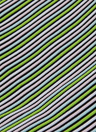 - SOLID & STRIPED - 'The Cleo' stripe ottoman knit bikini top