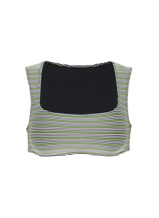 Main View - Click To Enlarge - SOLID & STRIPED - 'The Cleo' stripe ottoman knit bikini top