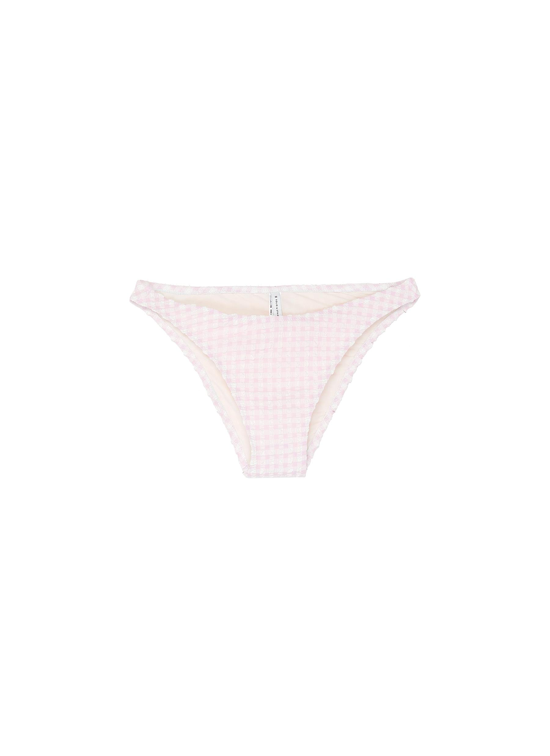 The Eloise gingham check seersucker bikini bottoms by Solid & Striped