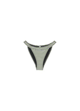 Main View - Click To Enlarge - SOLID & STRIPED - 'The Cleo' stripe ottoman knit bikini bottoms
