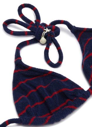 - SOLID & STRIPED - 'Nantucket' stripe triangle bikini top