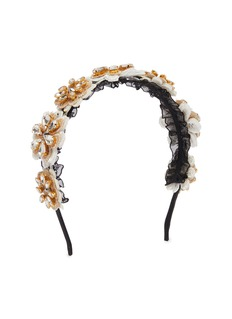 FAA Floral appliqué lace headband
