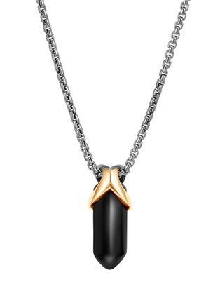 Main View - Click To Enlarge - JOHN HARDY - 'Asli Classic Chain' onyx 18k yellow gold silver pendant necklace