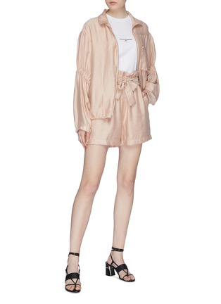 Figure View - Click To Enlarge - 3.1 PHILLIP LIM - Ruched sleeve anorak