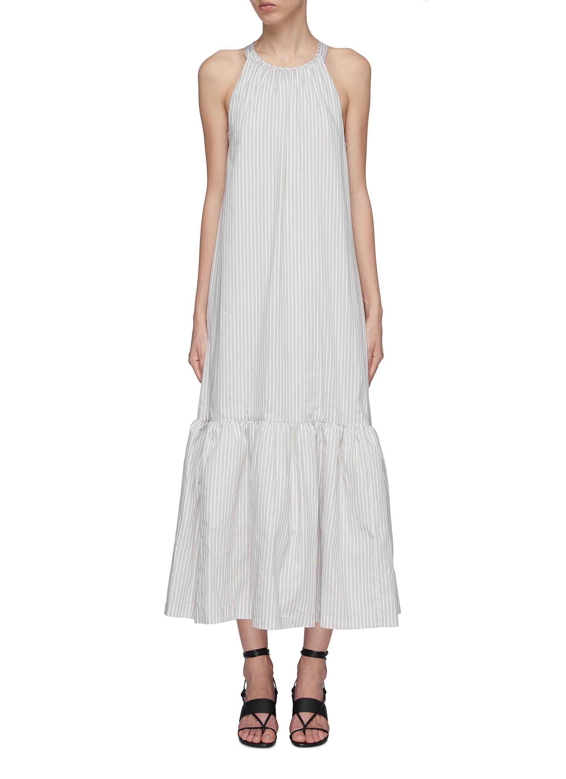 Flared hem strappy back stripe tent dress by 3.1 Phillip Lim