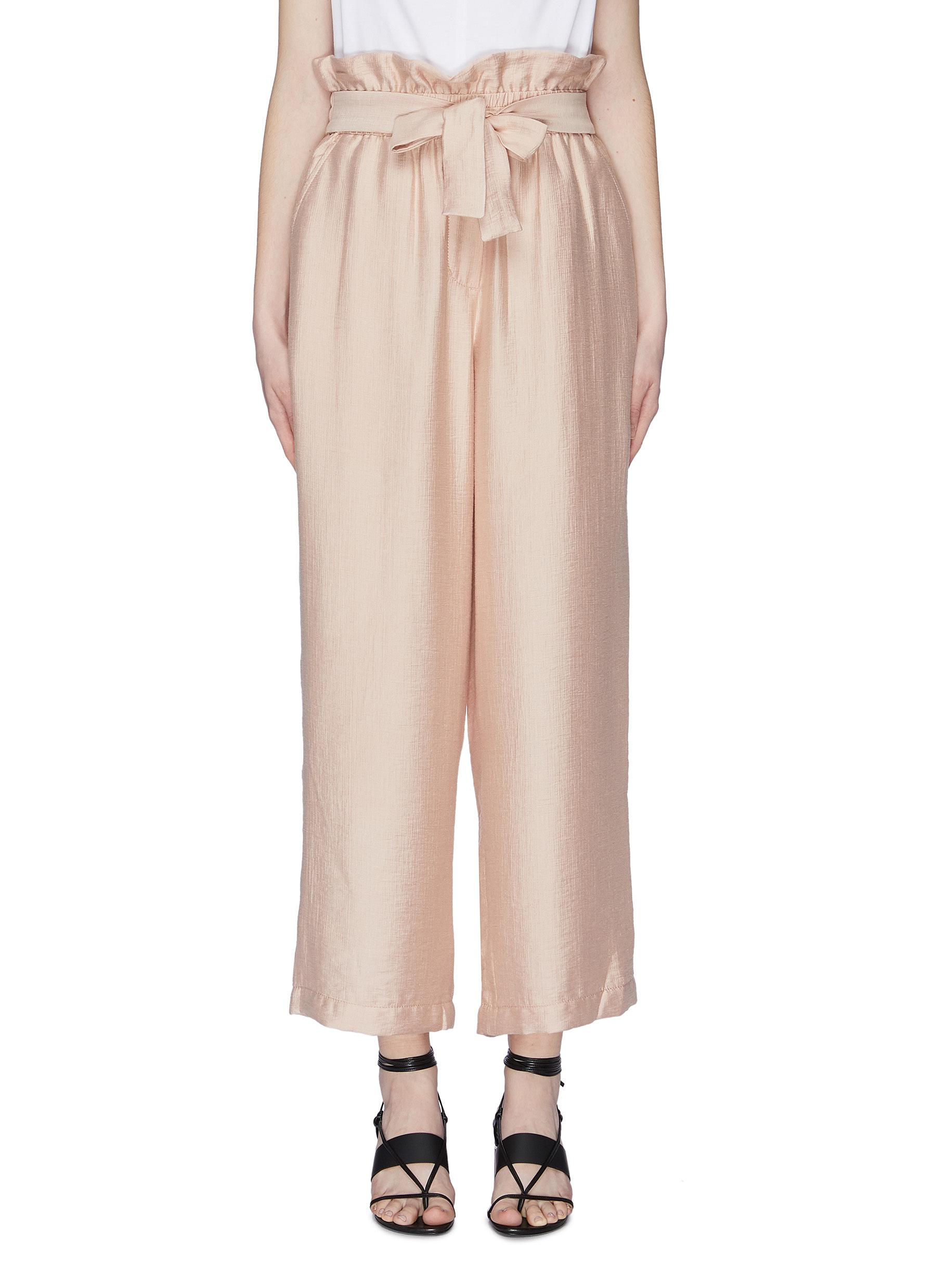 Belted paperbag culottes by 3.1 Phillip Lim