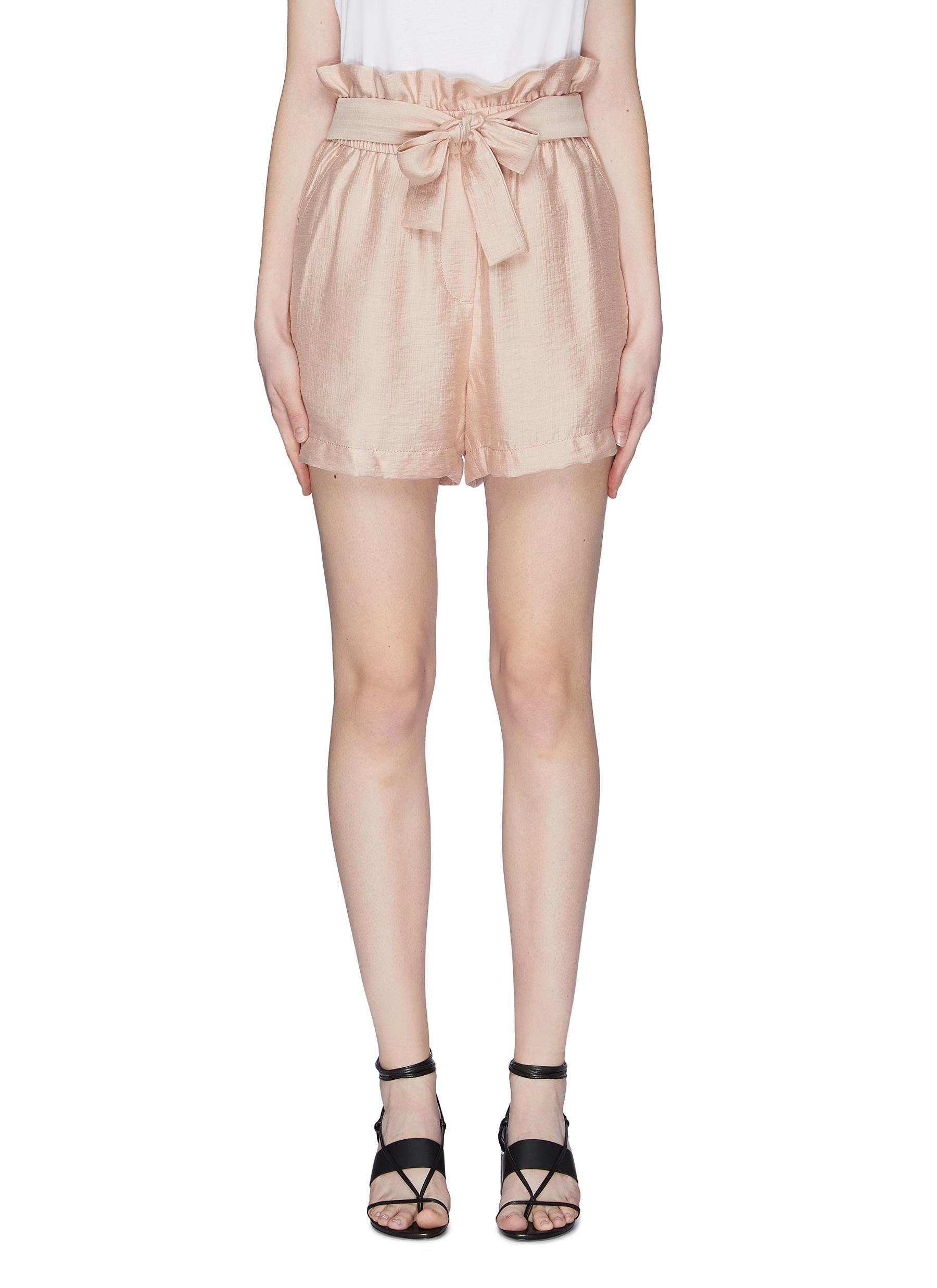 Belted paperbag shorts by 3.1 Phillip Lim