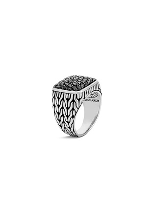 Main View - Click To Enlarge - JOHN HARDY - 'Modern Chain' sapphire silver signet ring