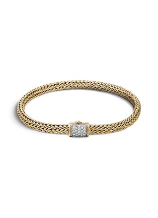 Main View - Click To Enlarge - JOHN HARDY - 'Classic Chain' diamond 18k yellow gold woven bracelet