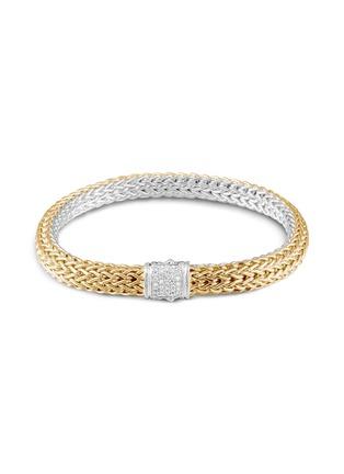 Main View - Click To Enlarge - JOHN HARDY - Classic Chain' diamond 18k gold silver bracelet