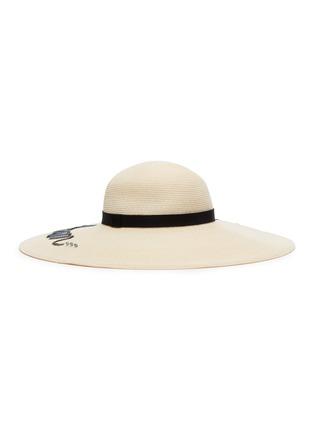 35e496e3b 'Bunny' sequin slogan Toyo straw hat