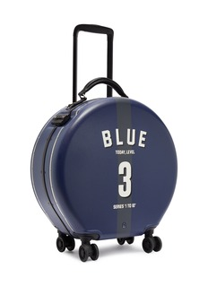 OOKONN x Studio Concrete round carry-on spinner suitcase – 3 Blue