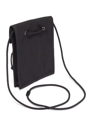 Detail View - Click To Enlarge - BALENCIAGA - 'Explorer' logo patch zip pouch