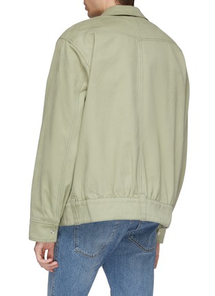 Back View - Click To Enlarge - Acne Studios - Twill shirt jacket