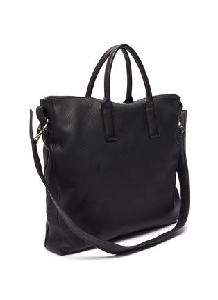 Detail View - Click To Enlarge - A-ESQUE - 'Portfolio' grainy leather tote bag