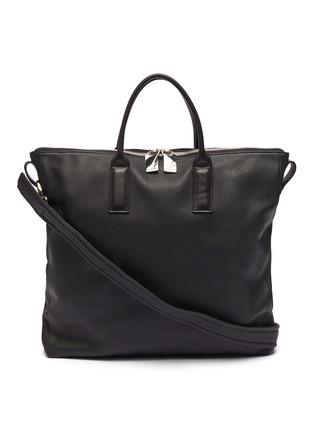 Main View - Click To Enlarge - A-ESQUE - 'Portfolio' grainy leather tote bag
