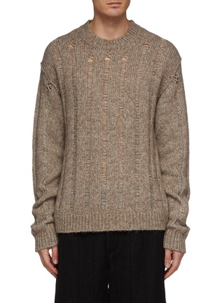Main View - Click To Enlarge - UMA WANG  - Distressed sweater