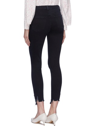 Back View - Click To Enlarge - J BRAND - 'Alana' ripped cuff cropped skinny jeans