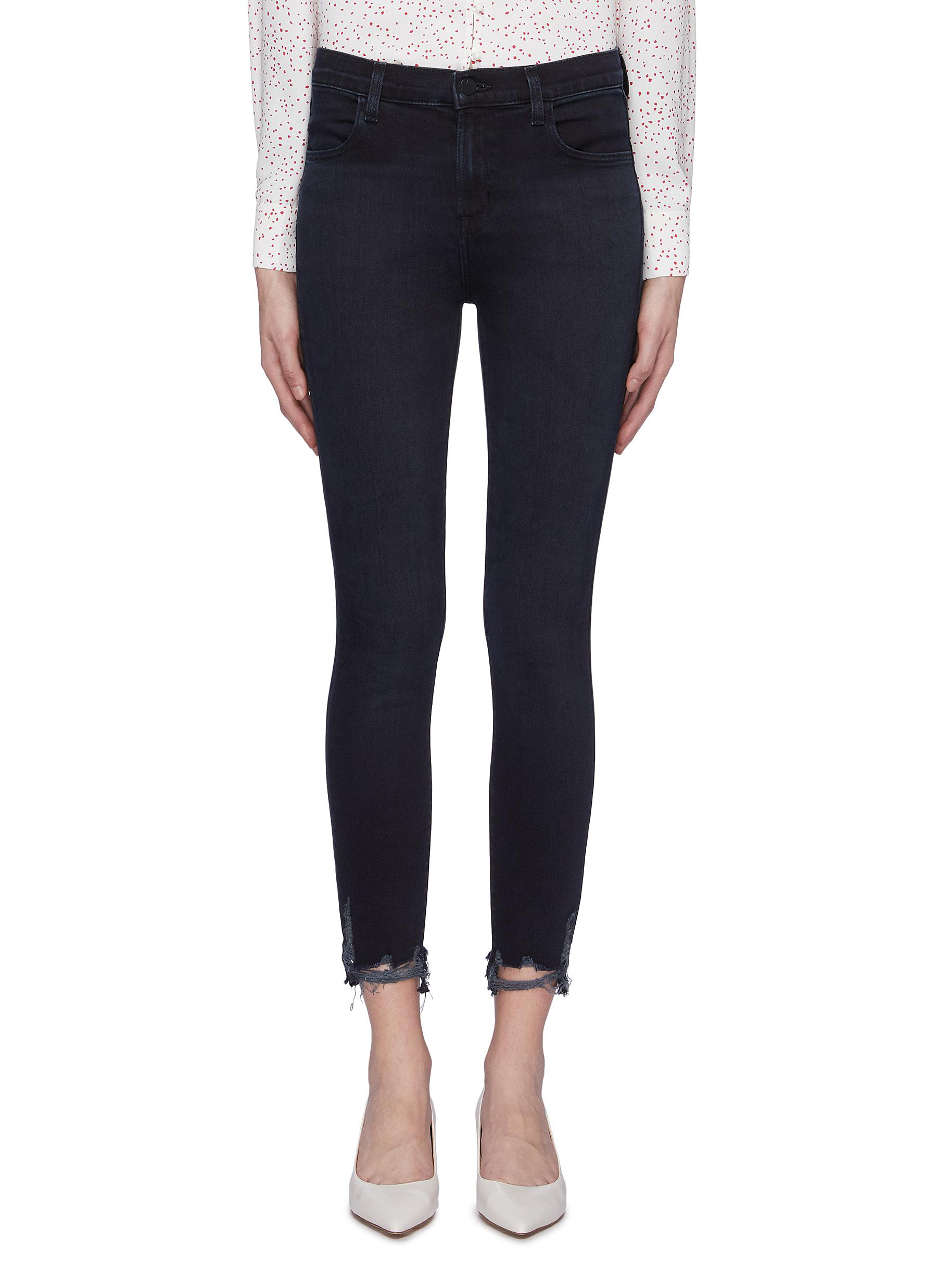 Alana ripped cuff cropped skinny jeans by J Brand