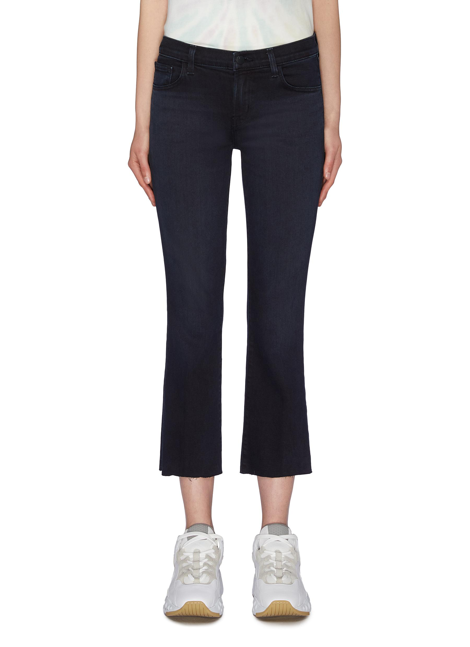 Selena raw cuff cropped boot cut jeans by J Brand