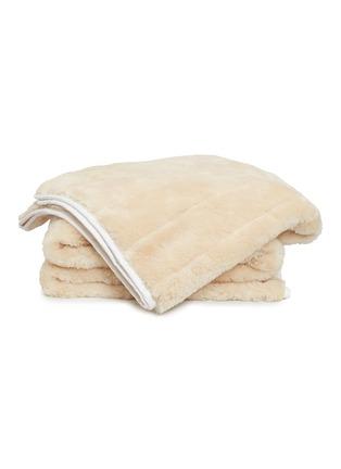 Main View - Click To Enlarge - SHLEEP - The ShleepSkin™ blanket – White/Oatmeal