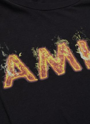 - Amiri - Flame logo print T-shirt