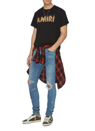 Figure View - Click To Enlarge - AMIRI - Flame logo print T-shirt