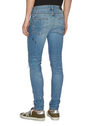 Back View - Click To Enlarge - AMIRI - 'Graffiti' paint splatter print ripped jeans