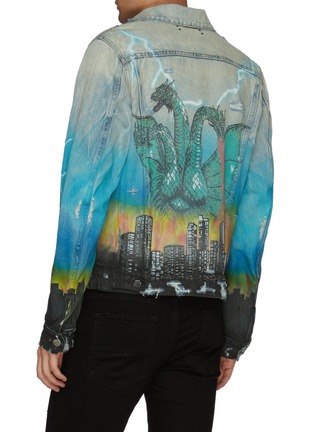 Back View - Click To Enlarge - AMIRI - 'City Dragon' graphic print denim trucker jacket
