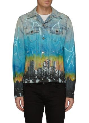 Main View - Click To Enlarge - AMIRI - 'City Dragon' graphic print denim trucker jacket