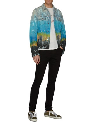 Figure View - Click To Enlarge - Amiri - 'City Dragon' graphic print denim trucker jacket