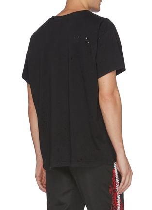 Back View - Click To Enlarge - AMIRI - 'Shotgun' distressed T-shirt