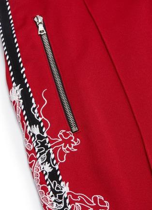 - AMIRI - Dragon graphic embroidered stripe outseam jogging pants