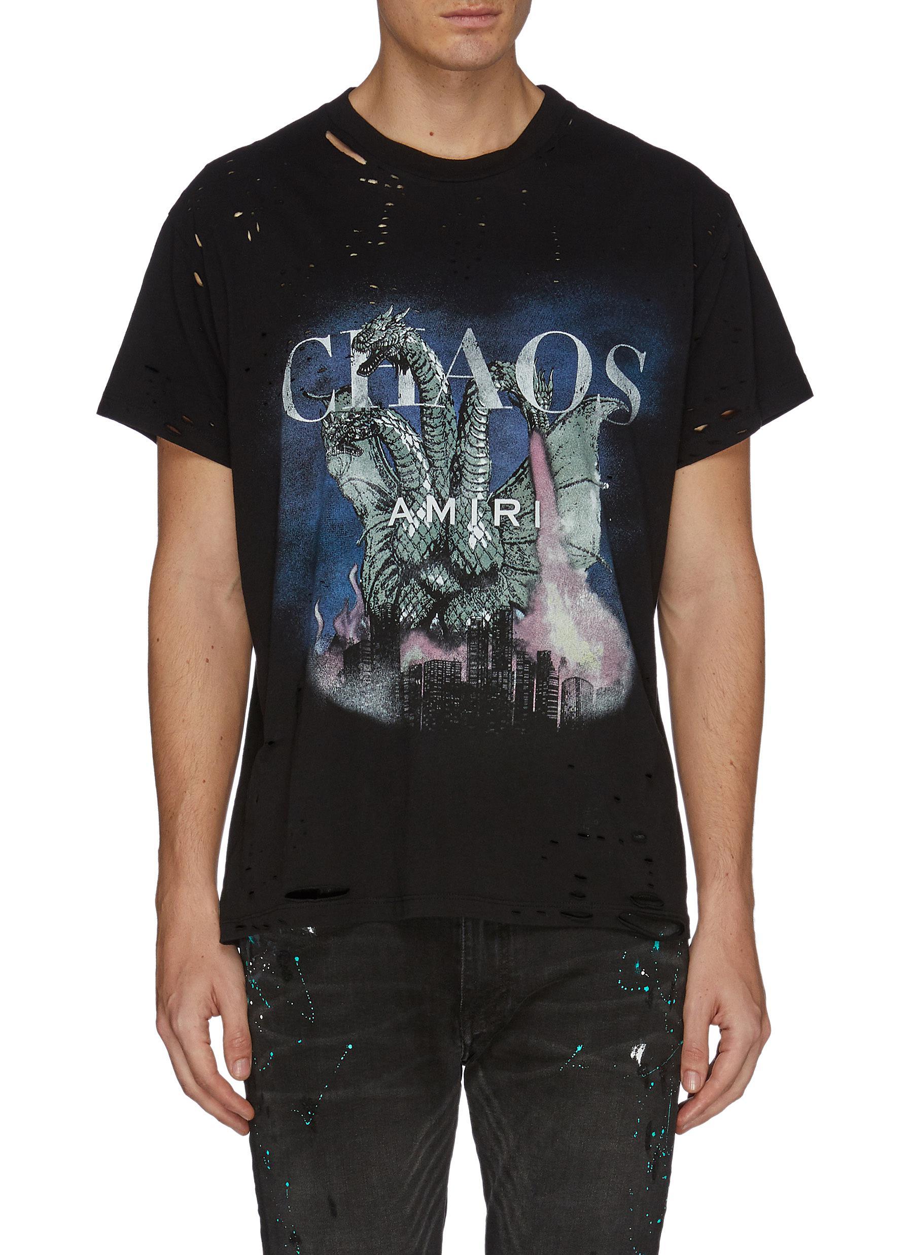 c9f99faa AMIRI | 'City Dragon' graphic print distressed T-shirt | Men | Lane ...