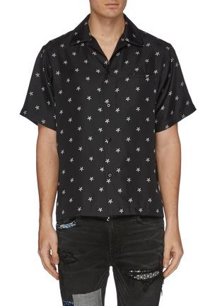 Main View - Click To Enlarge - AMIRI - Star print silk short sleeve shirt