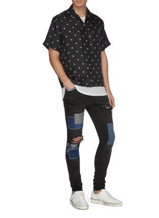 Figure View - Click To Enlarge - AMIRI - Star print silk short sleeve shirt