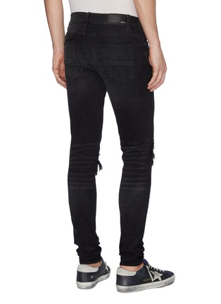 Back View - Click To Enlarge - AMIRI - 'MX1' bandana patch ripped skinny jeans