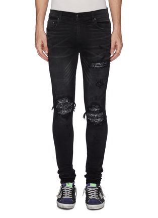 Main View - Click To Enlarge - AMIRI - 'MX1' bandana patch ripped skinny jeans