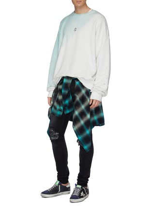 Figure View - Click To Enlarge - AMIRI - 'MX1' bandana patch ripped skinny jeans