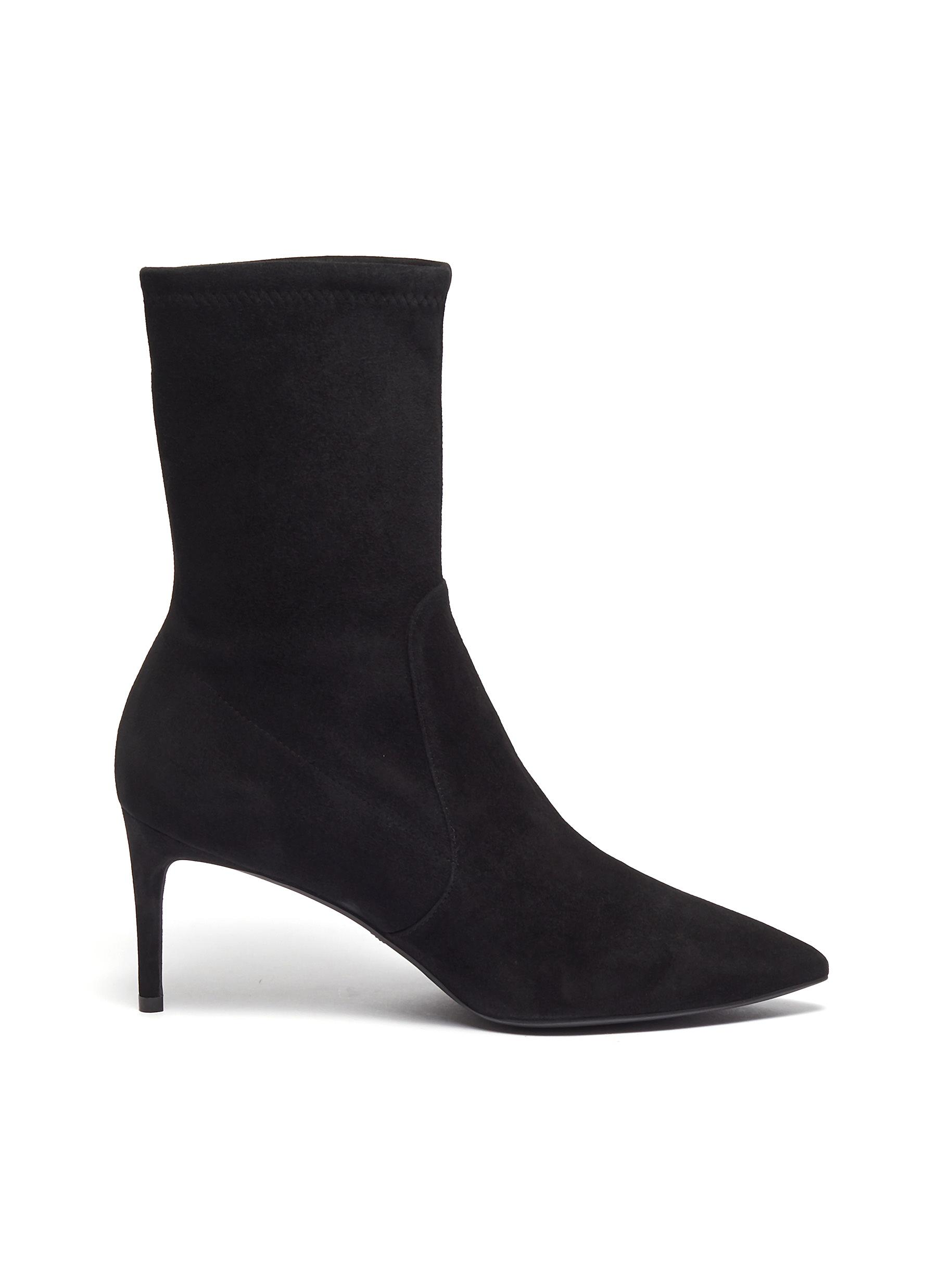 Wren stretch suede ankle boots by Stuart Weitzman